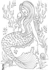 Small Picture Mermaid Coloring Page For Coloring Pages For Adults glumme