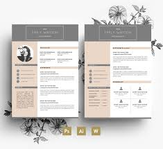 2 Page Cv Template Professional Cv Template Business Card 2 Page Cover