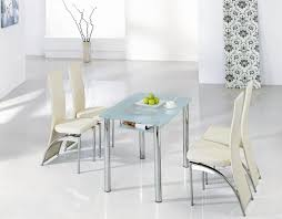 Chic Modern White Dining Furniture Set For Formal Room Ideas