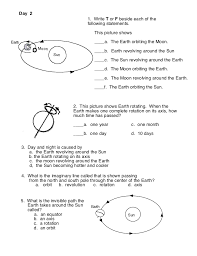 Earth and Sun Worksheets for First Grade | Homeshealth.info