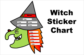 Reading Sticker Chart Witch Books Have You Read Sticker Chart Set
