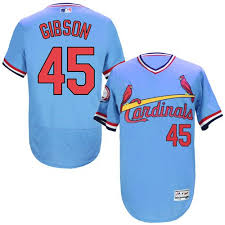 St Majestic Cardinals Blue Light Flexbase Authentic - Bob Gibson Throwback Men's Louis 45 Mlb Jersey Cooperstown|The Sports Guys
