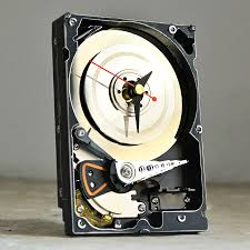 resols hard resols hard drive clock pedestal table contemporary  hard resols hard drive clock it s basically a hard drive repurposed as a clock but