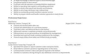 Certificate On Resume Sample Waitress Job Description Cover Letter Resume Sample Application 54