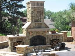 stacked stone outdoor fireplace outdoor designs regarding stand alone outdoor fireplace