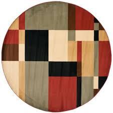 safavieh porcello black multi 5 ft x 5 ft round area rug