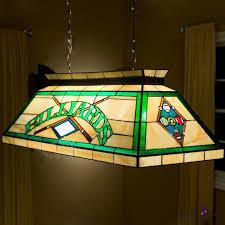 billard pool table lamp stained glass tiffany 2 light pendant lighting beautifulhalo com