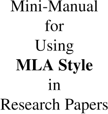 Mla 1 Mini Manual For Using Mla Style In Research Papers Pdf