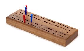 Classic Wooden Board Games Cribbage Board in Wood Zontik Games 16