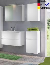 Badezimmer Britt 22 Weiß 4 Teilig Waschtisch 3d Spiegelschrank