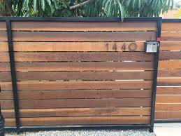 horizontal wood and metal fence. Contemporary And Horizontal Wood And Metal Fence To