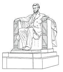 600x688 lincoln memorial coloring page for coloring book fun memorial day