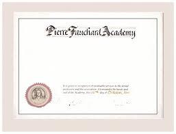 Student Certificate Of Merit Pierre Fauchard Academy
