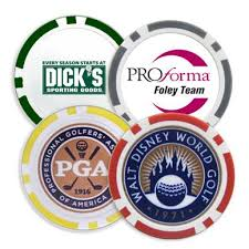 ball markers. poker chip golf ball markers