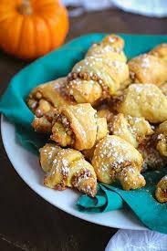pumpkin and walnut rugelach cookies