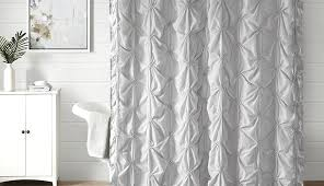 use shower curtain as window curtains with matching treatments drywall rod sets surround setup including pink