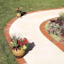 use brick borders for path edging diy