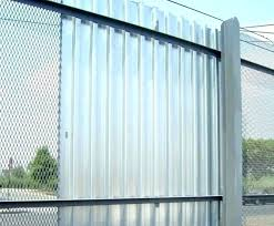 corrugated metal privacy fence diy construction how to build a