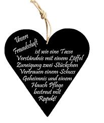 Freundschaft Holzschild Carina Geschenkech