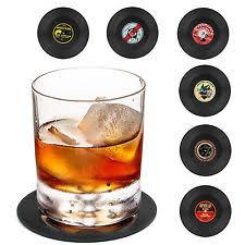 Vintage Vinyl Record Beverage Coasters Set Of 6 For Wine,beer,hot / Cold