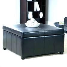 round storage table ottoman coffee black leather diy tabl