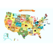 Large Us Map Poster Large Usa Wall Map Us Classic Edition Satin Laminated