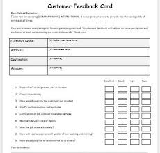 customer info card template product feedback form template microsoft word excel templates