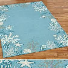 briny blue ocean themed area rugs briny blue rectangle rug sky blue