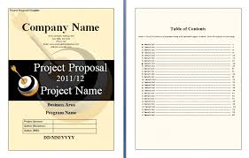 Proposal Templates Free Project Proposals Templates Natashamillerweb