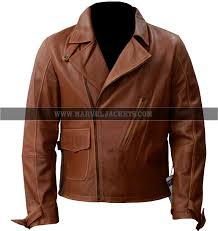 brando classic first avenger army men er biker brown sheep leather jacket