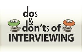 The Do S And Don Ts Of An Interview Hiring And Interview Reminders Some Dos And Donts For