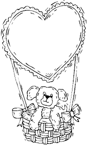 Small Picture Teddy Bear amp Heart Balloon Coloring Page