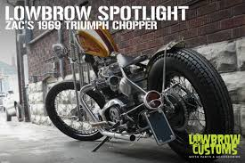 zac s 1969 triumph chopper with a capital c lowbrow customs blog