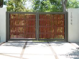 modern picket gate