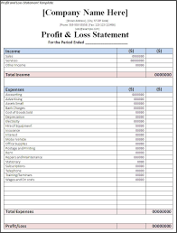 Rental Statement Form 8 Simple Profit And Loss Statement Form Rental Sample Tripevent Co