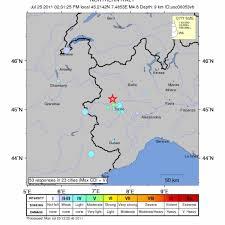 Piemonte, forte scossa di terremoto, stima magnitudo 4.3 ...
