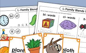 One worksheet may ask students to match a word and another may ask them to write it. Phonics Worksheets L Family Blends