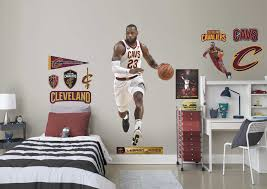 big wall decals for bedroom es custom flower lots also charming nba lebron james realbig life size fathead pictures fresh lebron james wall decals