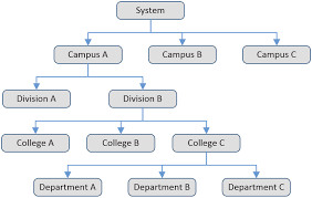 A Simple Hierarchical Organizational Chart Representing A