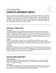 Professional Summary Example 61 Images 4 Resume Career Objective For