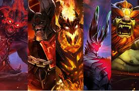 demon gaming dota 2 sd doom sf terrorblade lion by