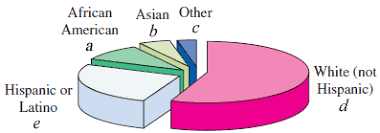 American Ethnic Groups Pie Chart Solved The Pie Chart Shows The Ethnic Makeup Of Californi