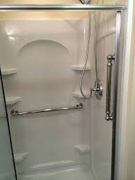 sterling ensemble showers shower unit with grab bars 36 kit sterling ensemble showers