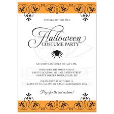 Party Borders For Invitations Halloween Costume Party Invitation With Ornate Black And Orange Borders