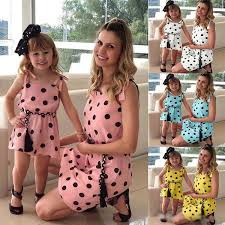 Mother And Daughter <b>Summer</b> Casual <b>Dresses 2019 Family</b> ...