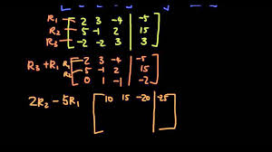 matrices lesson 12 use gaussian elimination to solve 3 variable simultaneous equations