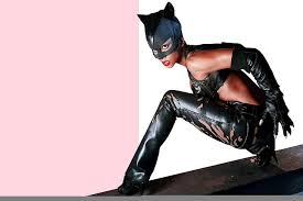 This halloween season, the infamous villainess catwoman continues to be a popular costume theme with women and girls. Hd Wallpaper Halle Berry Catwoman Catwoman Costume Pink Actress Black Wallpaper Flare