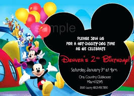 Baby Mickey Invitation Template Askaboutsports Info