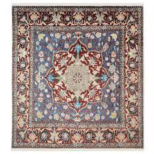 jewish star square wool area rug