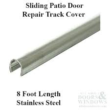 sliding glass door track repair cover patio inch stainless steel hardware